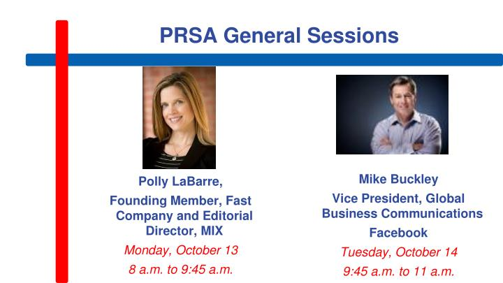 PRSA General Sessions