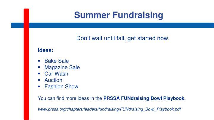 Summer Fundraising