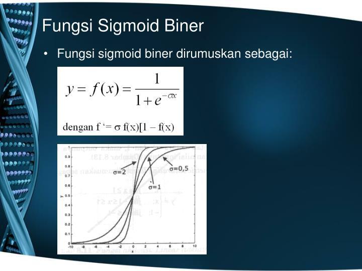 Fungsi Sigmoid Biner