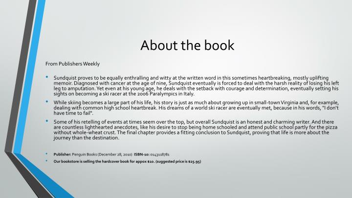 About the book