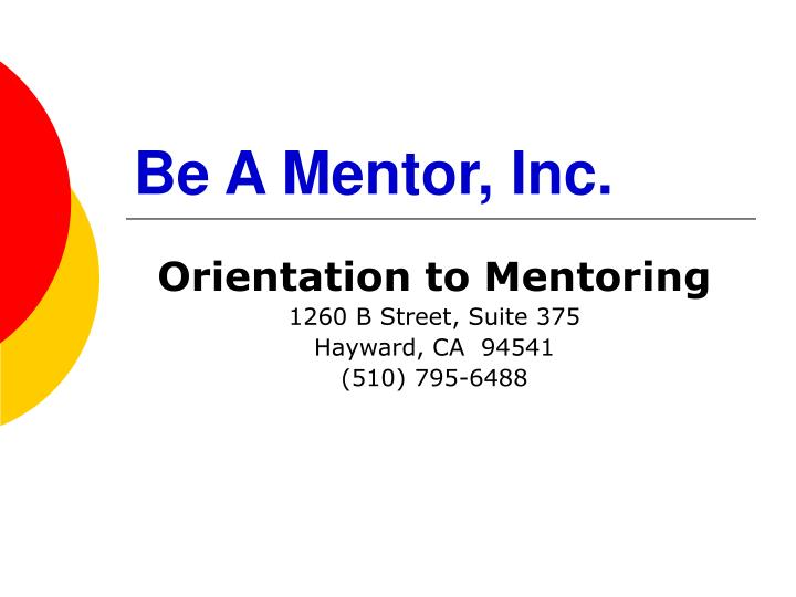 Be a mentor inc