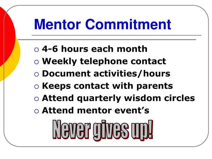 Mentor Commitment
