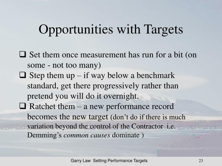 Opportunities with Targets