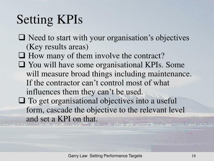Setting KPIs