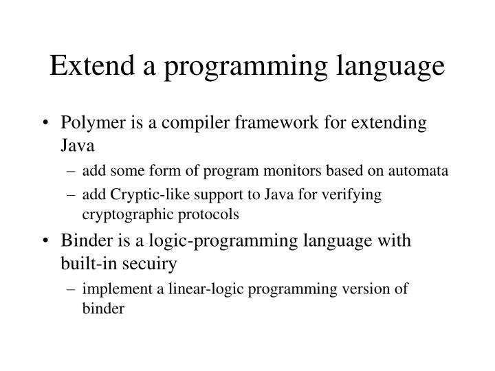 Extend a programming language