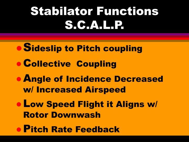 Stabilator Functions