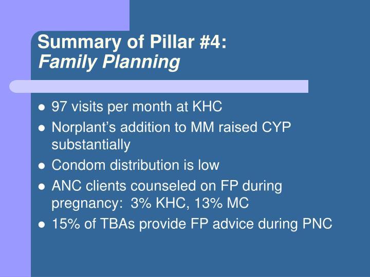 Summary of Pillar #4: