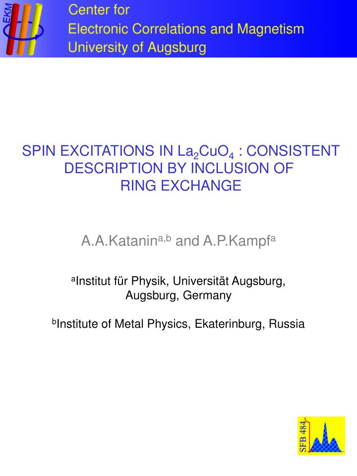SPIN EXCITATIONS IN La