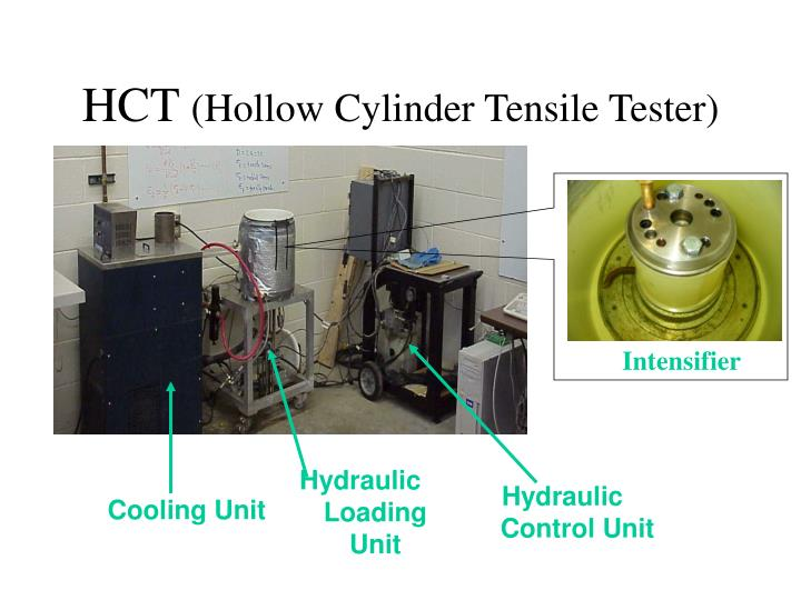 Hct hollow cylinder tensile tester