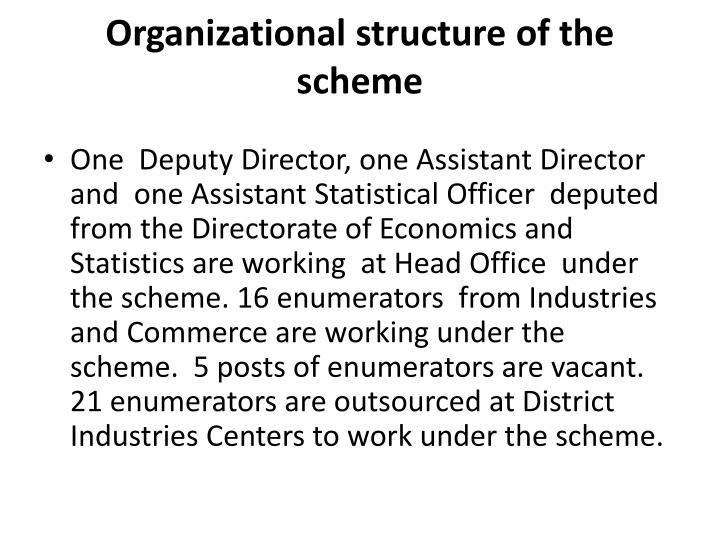 Organizational structure of the scheme