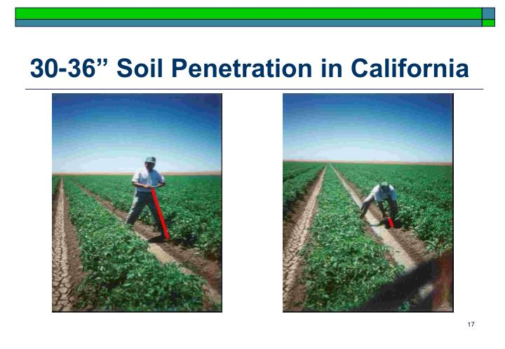 "30-36"" Soil Penetration in California"