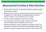 balanced soil fertility plant nutrition