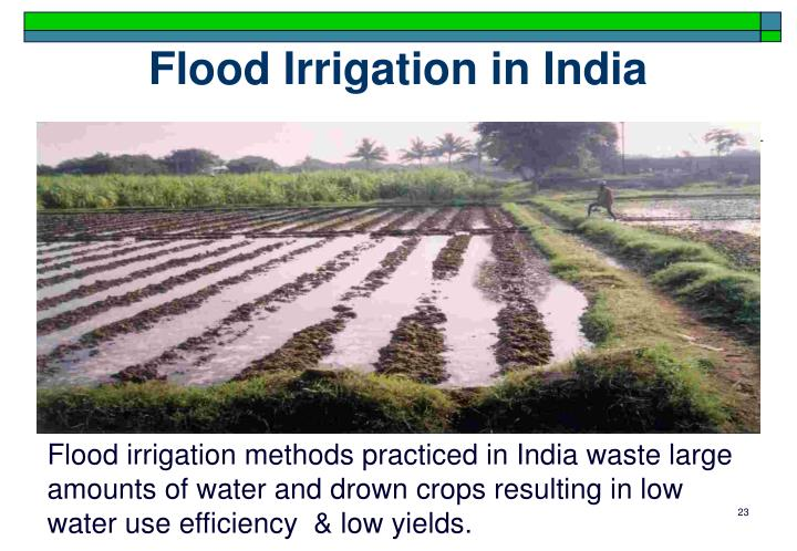 Flood Irrigation in India