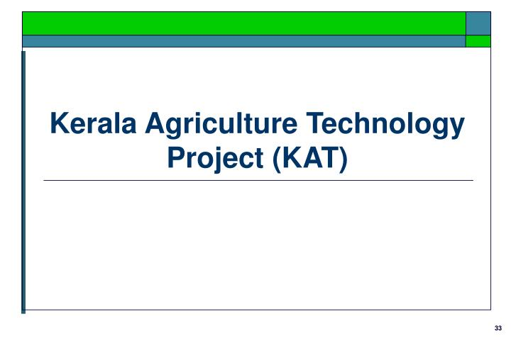 Kerala Agriculture Technology Project (KAT)
