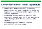 low productivity of indian agriculture