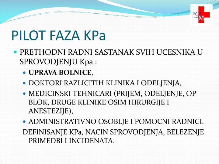 PILOT FAZA KPa