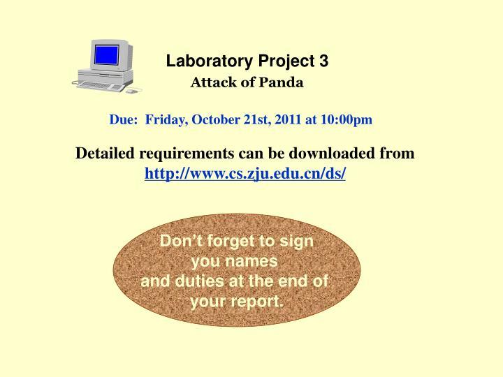 Laboratory Project 3