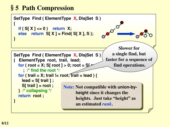 §5  Path Compression