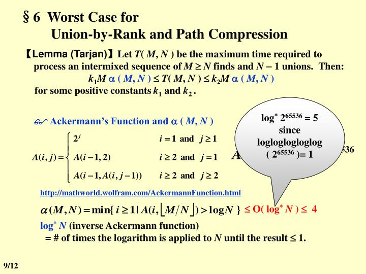 §6  Worst Case for