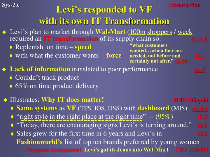 Levi's responded to VF