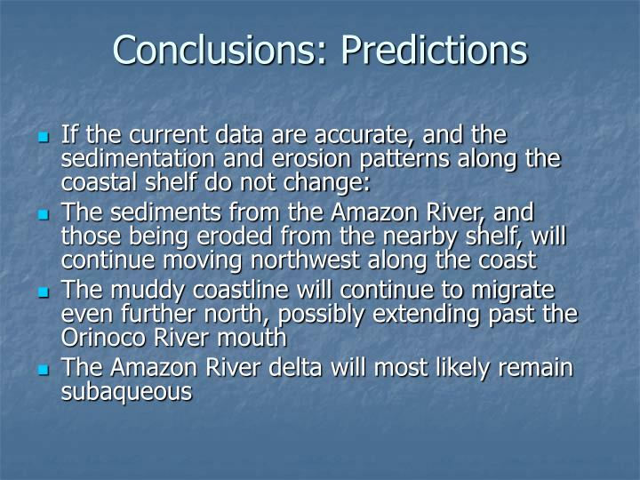 Conclusions: Predictions