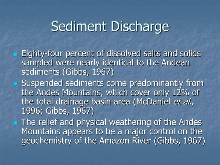 Sediment Discharge