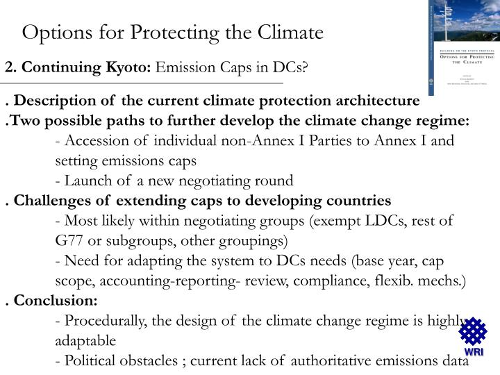 Options for Protecting the Climate