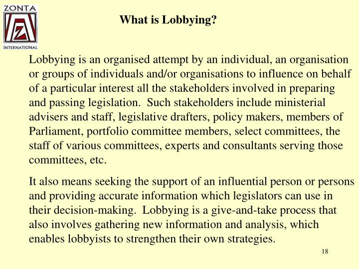 What is Lobbying?