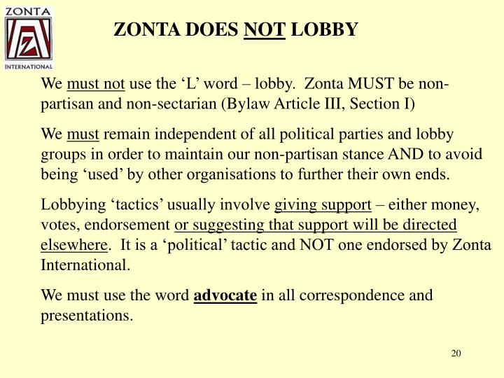 ZONTA DOES