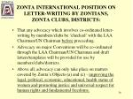 zonta international position on letter writing by zontians zonta clubs districts