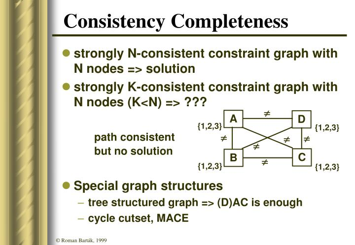 Consistency Completeness