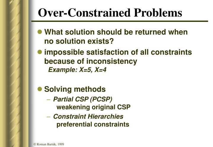 Over-Constrained Problems
