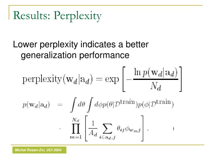 Results: Perplexity