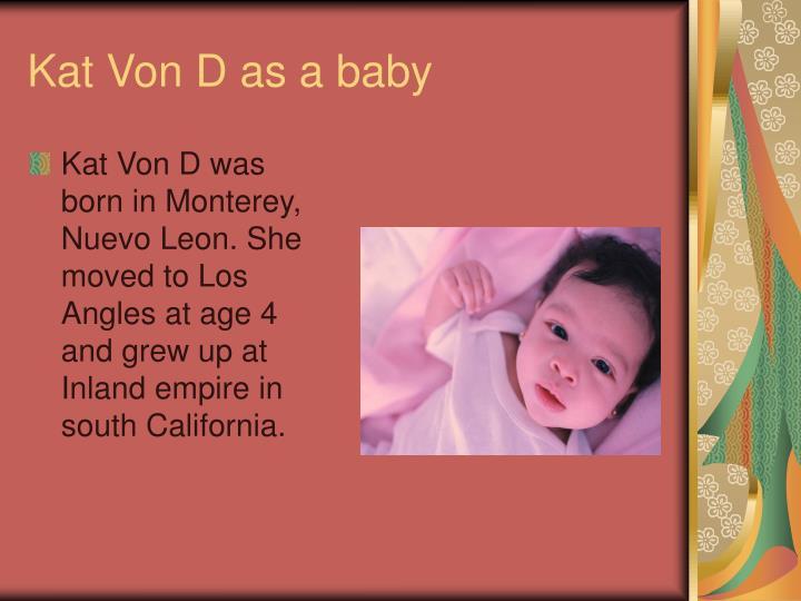 Kat Von D as a baby