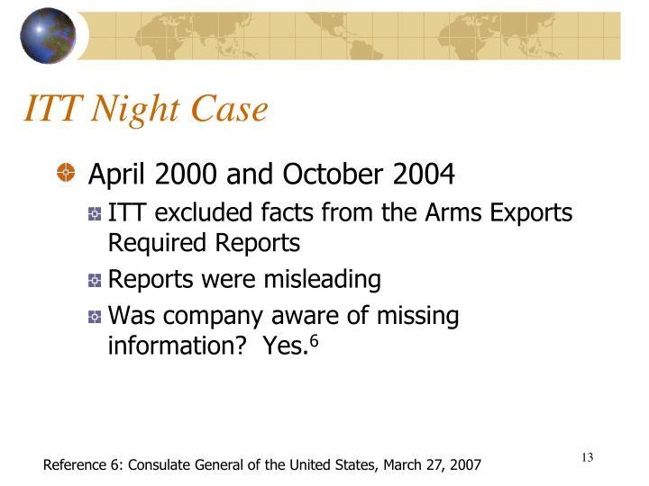 ITT Night Case