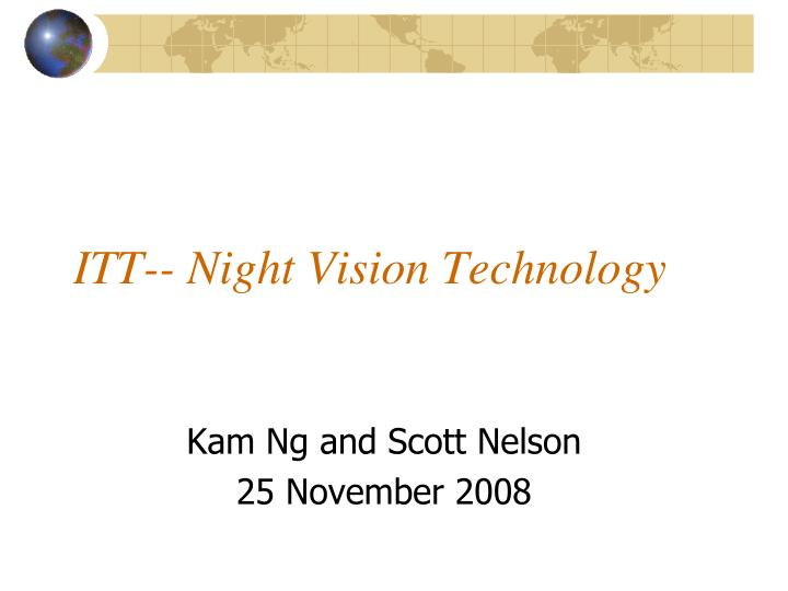 Itt night vision technology