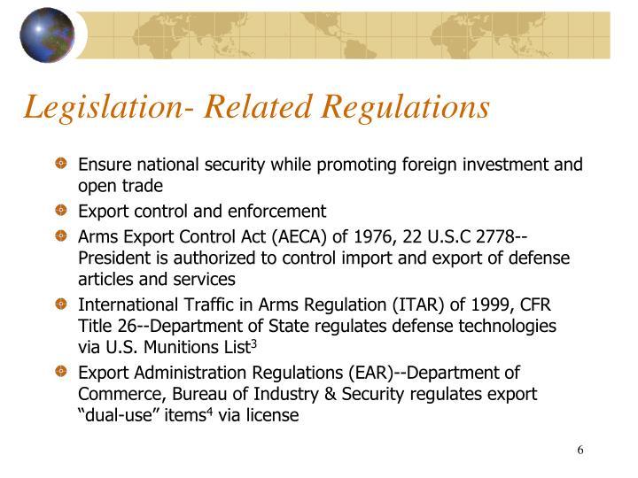 Legislation- Related Regulations