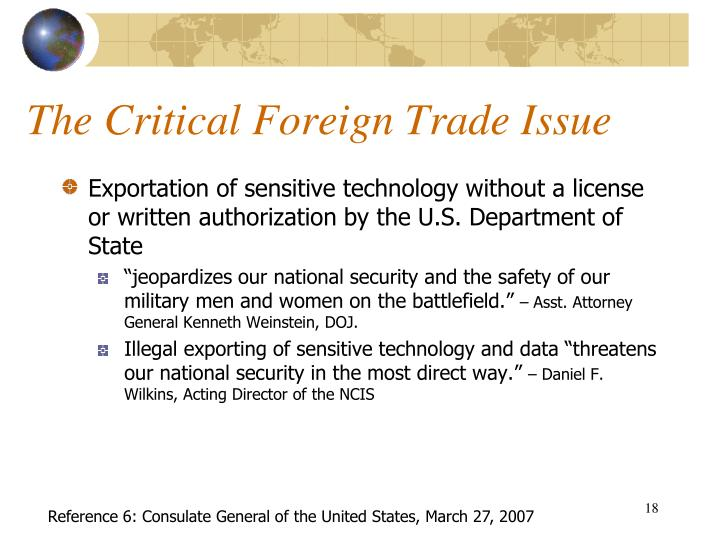 The Critical Foreign Trade Issue