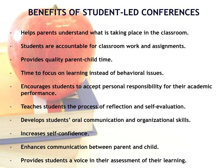Helps parents understand what is taking place in the classroom.