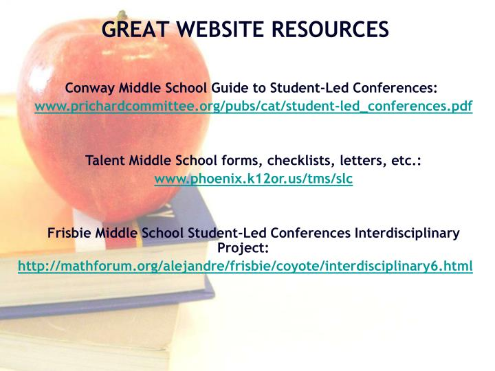 Conway Middle School Guide to Student-Led Conferences: