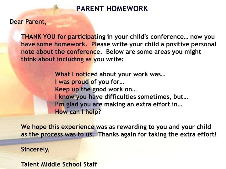 Dear Parent,