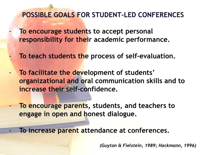 To encourage students to accept personal responsibility for their academic performance.