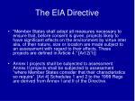 the eia directive2