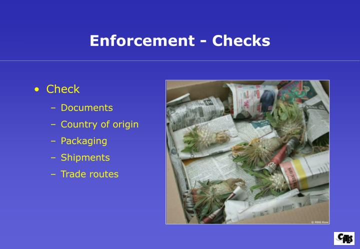 Enforcement - Checks