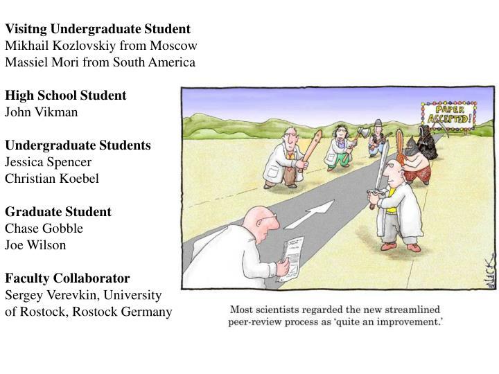 Visitng Undergraduate Student