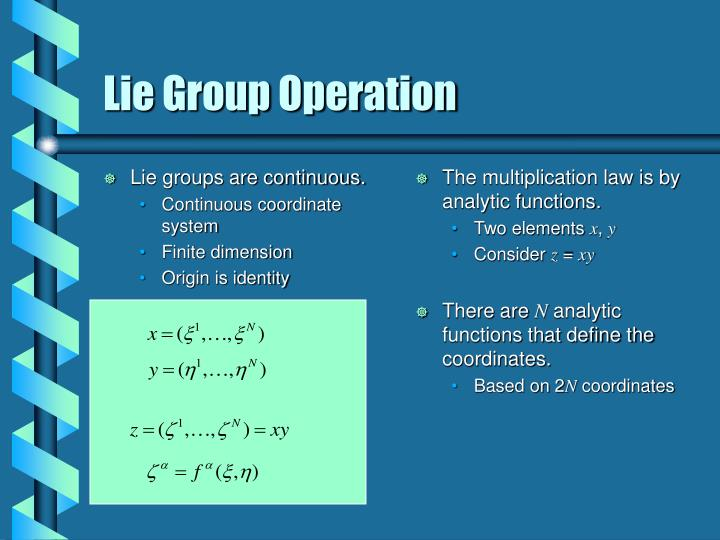 Lie groups are continuous.