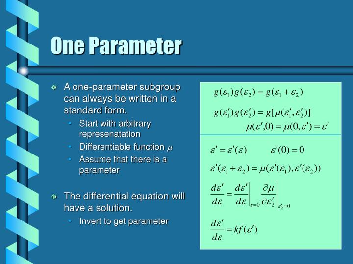 One Parameter