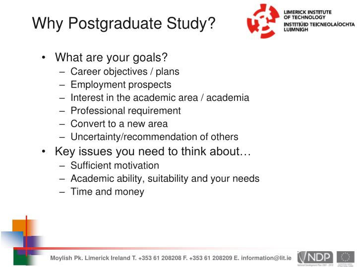 Why Postgraduate Study?
