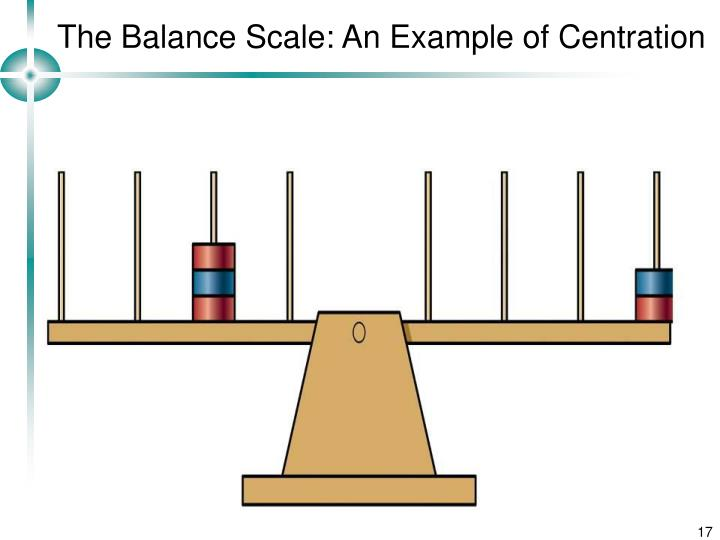 The Balance Scale: An Example of Centration