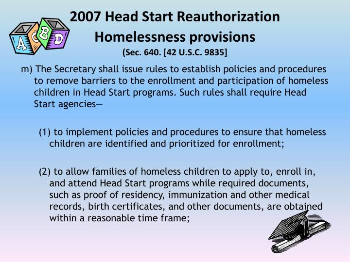 2007 Head Start Reauthorization
